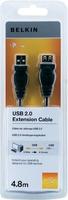 Belkin F3U153CP4.8M USB Kabel (Schwarz)