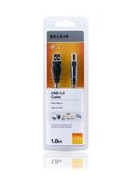 Belkin F3U154CP1.8M USB Kabel (Schwarz)
