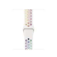 Apple MYD52ZM/A Smartwatch-Zubehör Band Mehrfarben, Weiß Fluor-Elastomer (Mehrfarben, Weiß)
