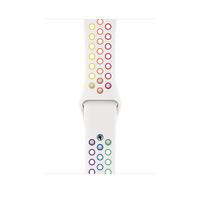 Apple MYD62ZM/A Smartwatch-Zubehör Band Mehrfarben, Weiß Fluor-Elastomer (Mehrfarben, Weiß)