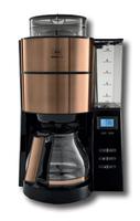 Melitta AromaFresh 1021-04 Filterkaffeemaschine (Schwarz, Kupfer)