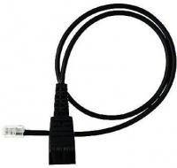 Jabra QD cord, straight, mod plug (Schwarz)