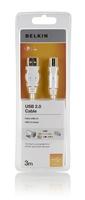 Belkin F3U154CP3M-WHT USB Kabel (Weiß)