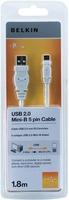 Belkin F3U155CP1.8MWHT USB Kabel (Weiß)