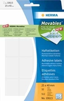 Herma Adhesive labels white Movables 19x40 640 St. (Weiß)