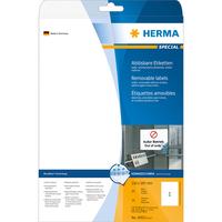 HERMA Ablösbare Etiketten A4 210x297 mm weiß Movables/ablösbar Papier matt 25 St. (Weiß)