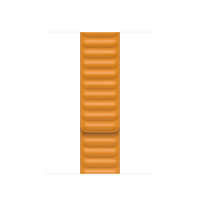 Apple 40mm California Poppy Leather Link - M/L Band Orange Leder (Orange)