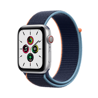 Apple Watch SE 44 mm OLED 4G Silber GPS