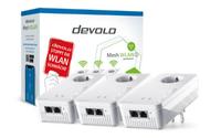 Devolo Mesh WLAN 2 Multiroom Kit 2400 Mbit/s Eingebauter Ethernet-Anschluss Weiß 3 Stück(e) (Weiß)