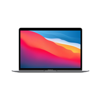 Apple MacBook Air Notebook 33,8 cm (13.3 Zoll) 2560 x 1600 Pixel Apple M 8 GB 256 GB SSD Wi-Fi 6 (802.11ax) macOS Big Sur Grau (Grau)