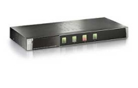 LevelOne KVM-0410 Tastatur/Video/Maus (KVM) Switch (Schwarz)