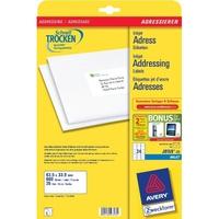 Avery J8159-25 Adressaufkleber (Weiß)