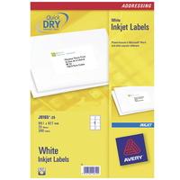 Avery J8165-25 Adressaufkleber (Weiß)