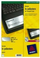 Avery L6012-20 Druckeretikette (Silber)