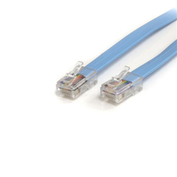 StarTech.com 1,8m Cisco Konsolen Rollover-Kabel – RJ45 Ethernet Stecker/Stecker (Blau)
