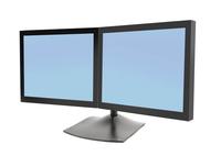 Ergotron DS Series DS100 Dual Monitor Desk Stand, Horizontal (Schwarz)