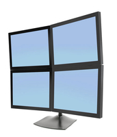 Ergotron DS Series DS100 Quad Monitor Desk Stand (Schwarz)