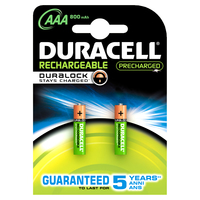 Duracell Stay Charged AAA (2pcs) (Mehrfarbig)