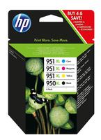 HP 950XL Schwarz/951XL Cyan/Magenta/Gelb 4er-Pack Original Tintenpatronen