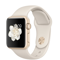 Apple Watch Sport (Weiß, Gold)