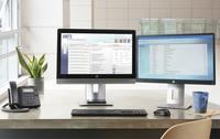 HP EliteDisplay E242 Monitor, mit 61 cm (24 Zoll) Diagonale (ENERGY STAR) (Schwarz, Silber)