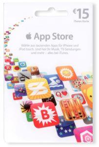 Apple App Store Geschenkkarte 15€ (Mehrfarbig)