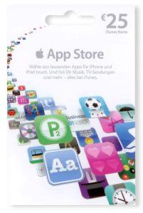 Apple App Store Geschenkkarte 25€ (Mehrfarbig)