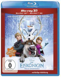 Die Eiskönigin - Völlig unverfroren, Blu-Ray 2D/3D
