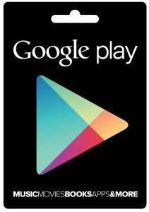 Google Play Store Geschenkkarte 50€ (Mehrfarbig)