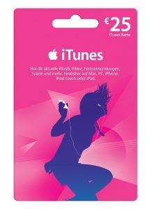 Apple iTunes Geschenkkarte 25€ (Mehrfarbig)