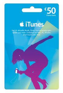 Apple iTunes Geschenkkarte 50€ (Mehrfarbig)