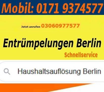 Wohnungsentrümpelungen Berlin Pauschalpreis